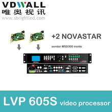 vdwall lvp605s+2 pc novastar sender msd300 video processor scaler PRICE for full color RGB LED display video screen wall