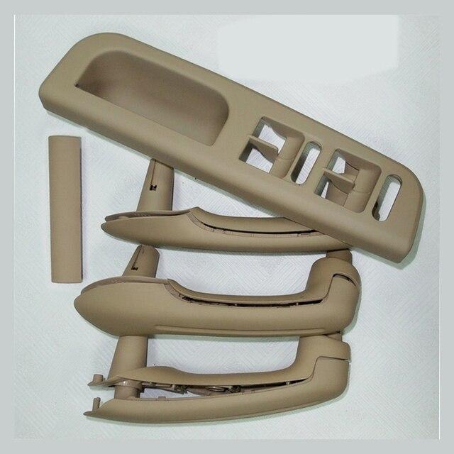 For 4 doors left right black beige grey plastic inner side door handle lifter switch panel for Volkswagen VW Jetta Golf 4