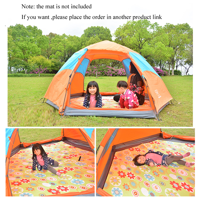 3-4 person waterproof pop up tent for winter fishing hiking outdoor Camping Tent Waterproof family party tent no-see-um mesh 4