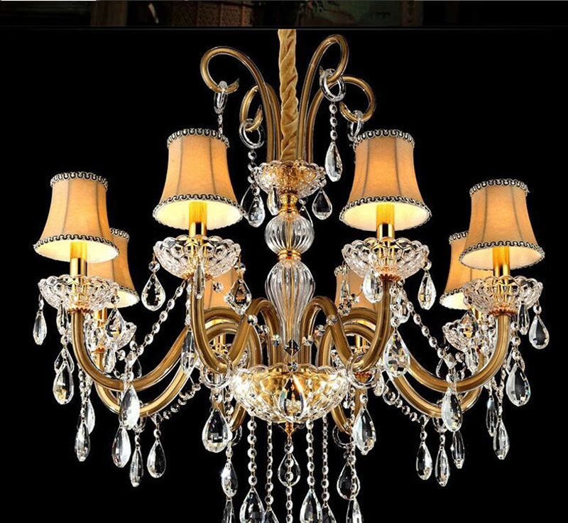 Us 102 0 15 Off Modern Chandeliers China Small Chandelier For Bedroom Art Lamp Creative Crystal With Lampshade Contemporary In