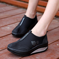 2017 Women Casual Shoes Woman Mesh Platform Wedges 5cm High Heels Shook Shake Shoes Loafers Zapatillas Deportivas Zapatos Mujer