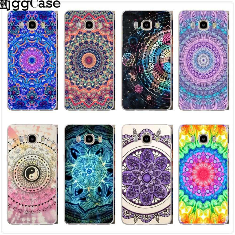 Mandala Flower Printing phone cover Case For Samsung Galaxy S6 S7 Edge S8 S9 J3 J4 J5 J6 J7 A3 A5 A6 A7 2016 2017 A8 plus 2018
