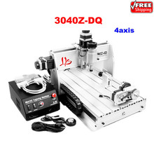 3040Z DQ 4axis CNC engraving machine auto checking instrument 4th rotation axis for 3d cnc