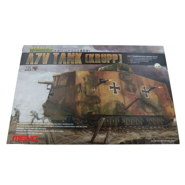 f4bdfa0a26e7 OHS Meng TS017S 1 35 German A7V Tank Krupp Assembly Scale Truck Model  Building Kits
