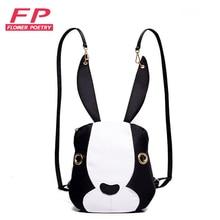 Nylon frauen mini rucksack kaninchen bagpack rucksack frauen back pack taschen rucksäcke für mädchen im teenageralter mochila feminina