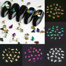 20PCs 3D Nail Art Decorations Square Designs Glass Nail Rhinestones For DIY Manicure Nail Art Stones Decorations Accessories 3d nail art fimo soft polymer clay fruit slices cartoon for nail manicure sticker cell phones diy designs wheel decoration czp35