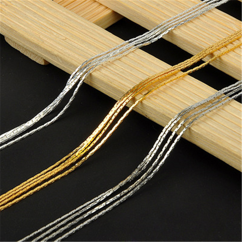 5m/lot Width 1mm Necklace Snake Chains Bulk For Jewelry Making Metal Copper Gold Silver Color Chains Craft Necklace Findings