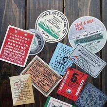 Дорожные дневники, записная книжка skysat annuler, ограниченная серия, декоративные наклейки, Мидори, Гонконг, наклейки