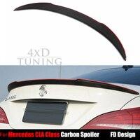 13 16 CLA For Mercedes W117 Carbon Fiber Rear Spoiler Trunk Wing FD Style C117 CLA