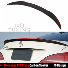 for Mercedes CLA W117 Carbon Fiber Rear Spoiler 2013 2014 2015 2016 2017 CLA C117 CLA180 CLA200 CLA250 CLA45 AMG with red line