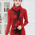 Spot spring new sweater Women bottoming shirt Korean yards long paragraph Slim package hip sweater send scarves