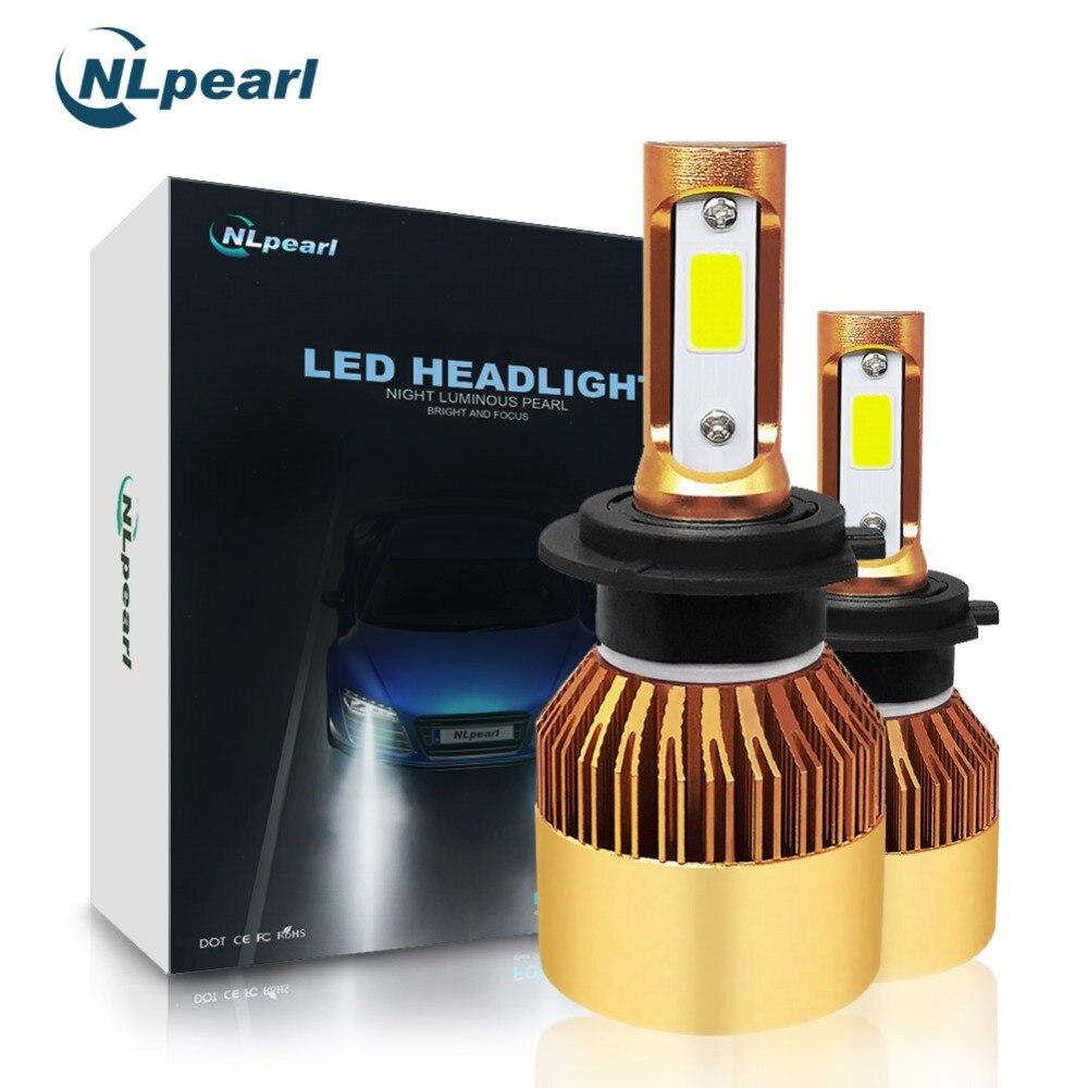 NLpearl Top Quality S2 COB Super LED Turbo H7 Auto LED Headlight Bulbs White 6500K H4 H11 HB3 9005 HB4 9006 H1 H7 Mini LED 12V h7 24 v 70 w super white vettler