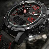 2017 NAVIFORCE Brand Men S Led Digital Quartz Watch Men Army Military Sports Watches Man Leather