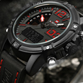 2017 dos homens da marca naviforce digital led relógio de quartzo homens do exército militar sports relógios homem de couro relogio masculino montre homme