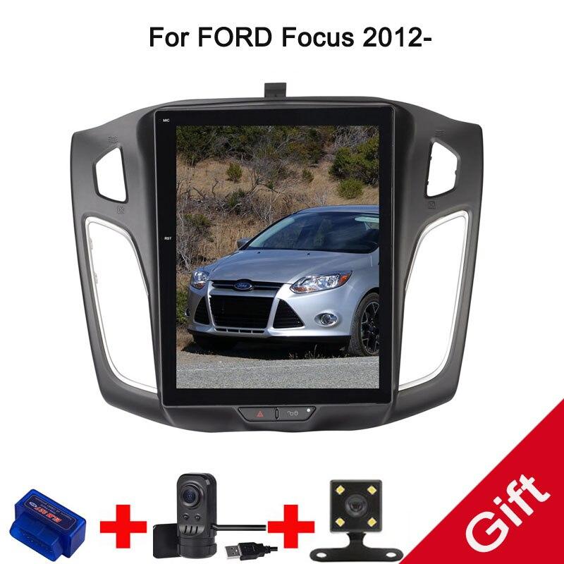 10,4 Тесла Android Fit FORD Focus 2012 Автомобильный dvd плеер навигация GPS радио