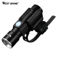 WEST BIKING Bike Light Ultra Bright Stretch Zoom CREE Q5 200m Bicycle Front LED Flashlight Lamp