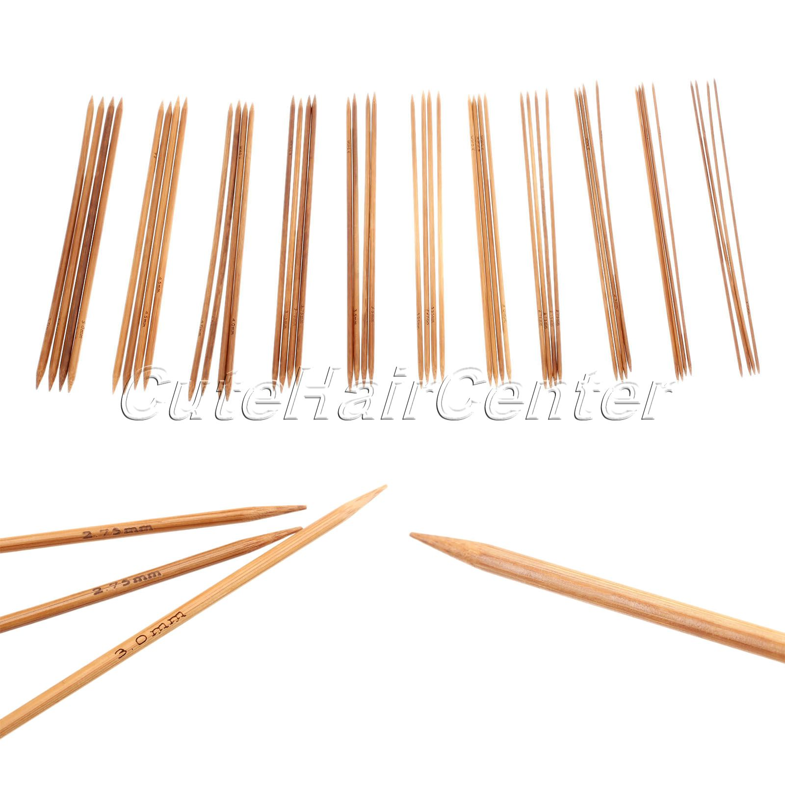 Knitting On Double Pointed Needles Joining In The Round : Hot sale pcs sizes double pointed carbonized bamboo