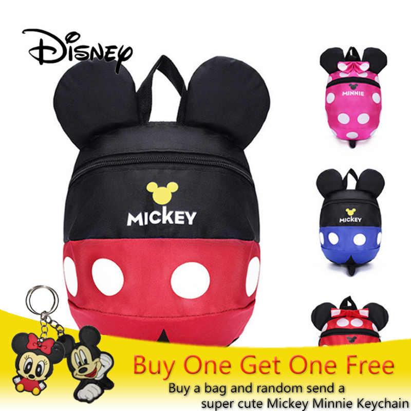 447b779f2f2 2019 Disney Baby Plush Backpack Cute Minni   Mickey Cartoon Mickey Mouse  Plush Bag Soft Toy