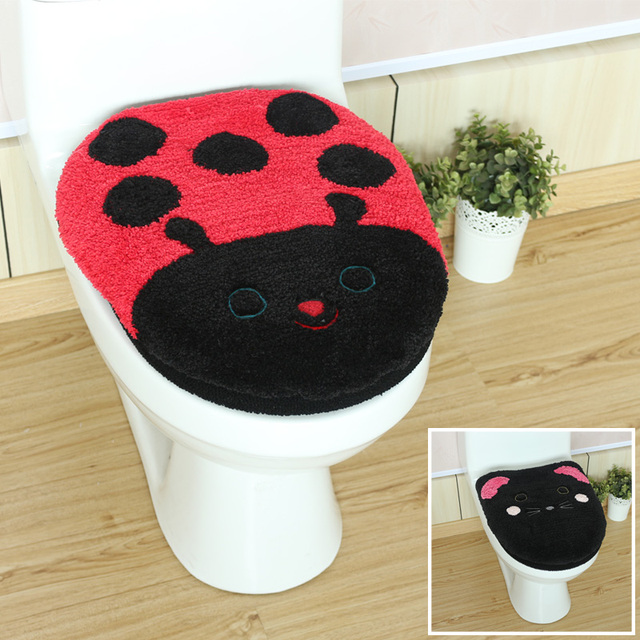 2pcs/set Cartoon Bathroom Toilet Set WC Seat Cushion Comfortable Potty Toilet O Ring Mat Toilet Cushion Cover Closetool Pad Set