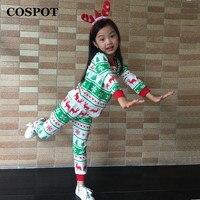 Wholesale Baby Boys Girls Christmas Pajamas Child Reindeer Nightwear Kids Clothing Sets Cotton Pj S Suits
