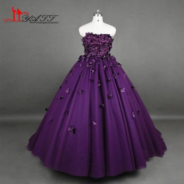 purple formal dresses