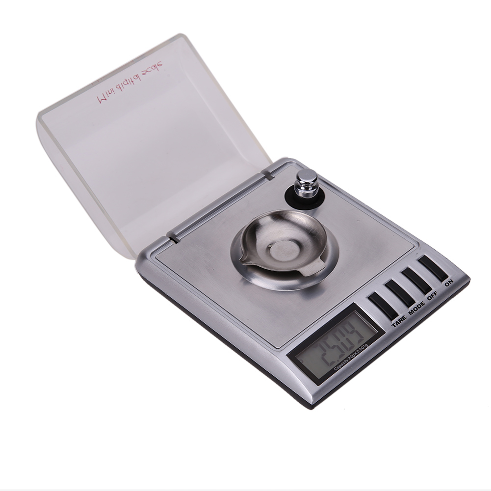 LCD Digital Scale 20g x 0.001g High precision Scale Gram Carat Grain Reload Jewelry Milligram Scales Gold Herb Balance Weight 50g 0 001g lcd digital jewelry scale lab gold herb balance weight gram popular new