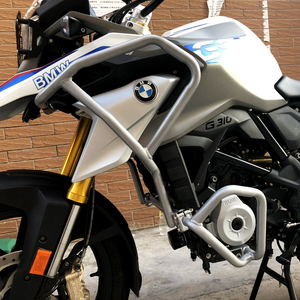 Image 3 - For BMW G310GS 2017 2018 Upper and Lower Motorcycle Engine Frame Protector Crash Bars Guards Highway Silver and Black