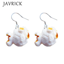 Funny Popcorn Fried Chicken Food Drop Earrings Women Creative Fashion Jewelry
