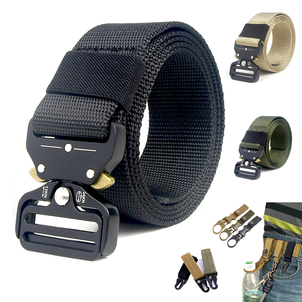 Back To Search Resultsapparel Accessories 125cm 135cm Tactical Nylon Belt Molle Military Swat Combat Belts Knock Off Emergency Survival Waist Belts Tactical Gear Dropship