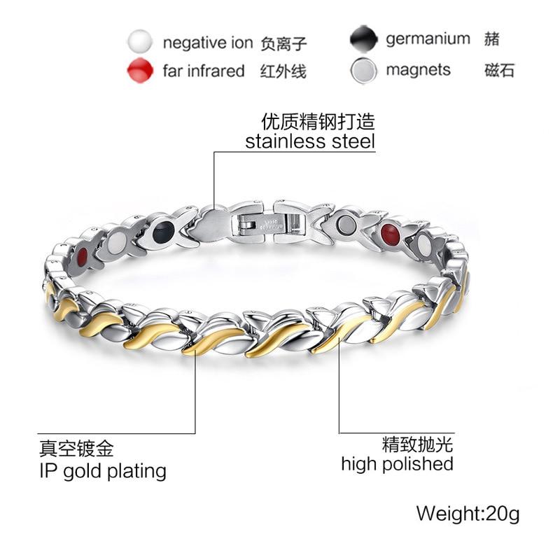 Women s Personality Magnetic Bracelet Stainless Steel Magnetic Health Care Bracelet Gift For Female 051