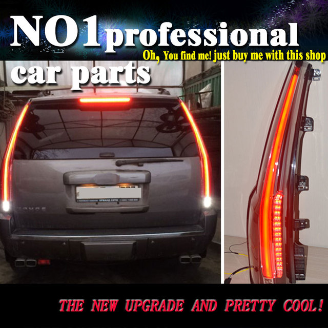 Car Styling 2017 2016 For Chevrolet Tahoe Taillights Led Tail Lights Rear Lamp Drl Brake Park Signal Stop