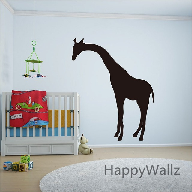 Large Giraffe Wall Sticker DIY Baby Nursery Giraffe Removable Wall Decal  Kids Room 3D Animal Easy