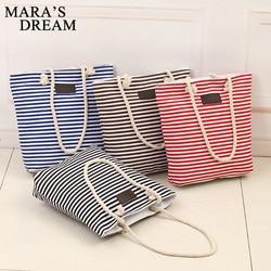 Mara s dream fashion canvas unisex stripe women zipper handbag strap coffee shopping bag shoulder bag.jpg 250x250
