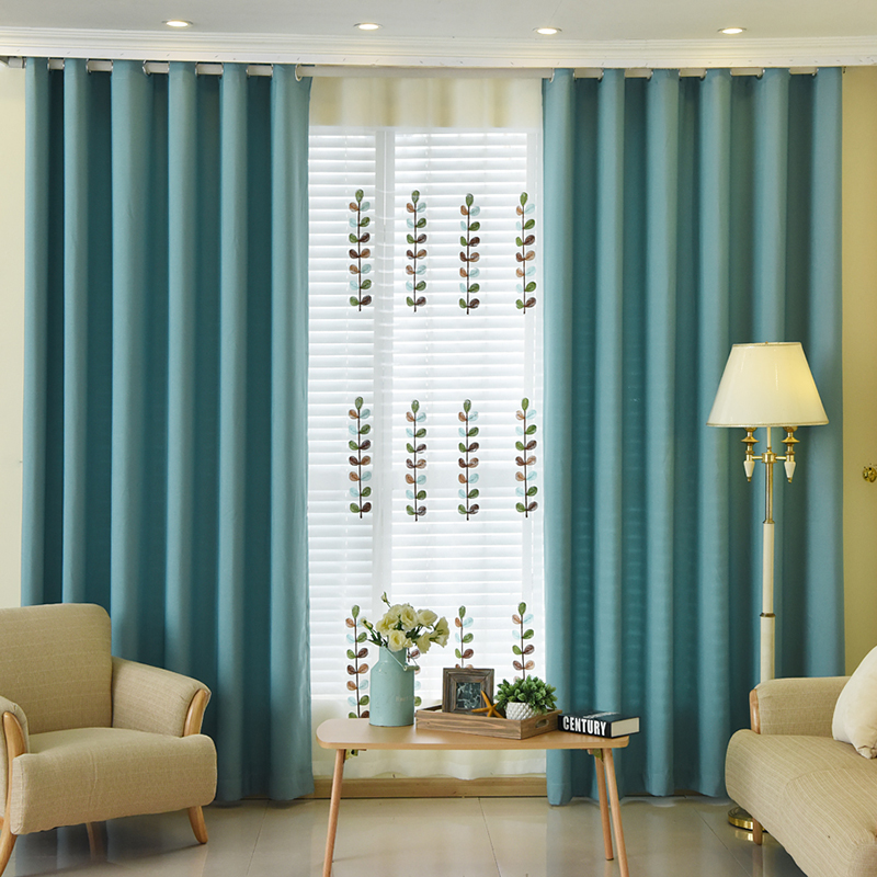 1pc Luxchic Window Curtains For Living Room Bedroom Blackout Curtains Window Treatment Drapes