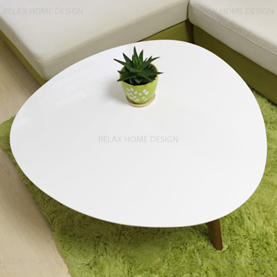 White Wood Round Coffee Table Coffetable