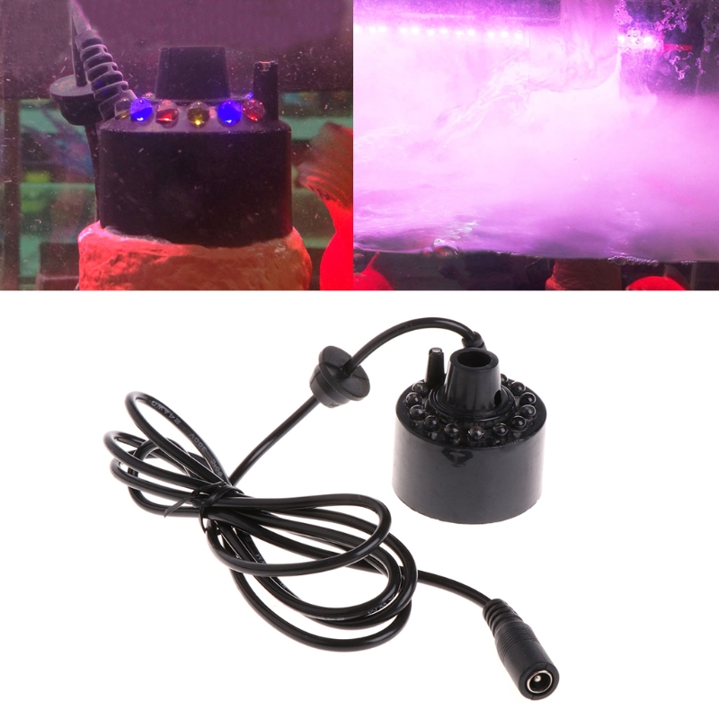 Aquarium 12 LED light Ultrasonic Mist Maker Fogger Water Fountain Pond Indoor Outdoor Fogger Purify Fish TankFilters Accessory in Filters Accessories from Home Garden
