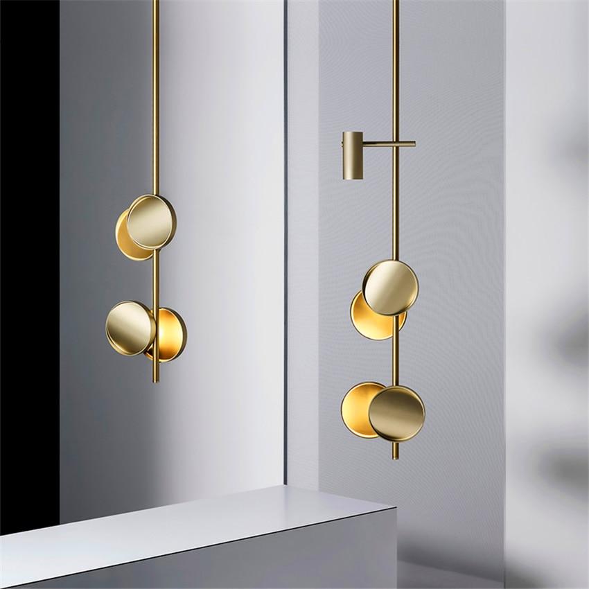 Nordic Art Pendant Lamps Beauty Salon Lighting Luxury Strip LED Pendant Lights Bedroom Living Room Hanging Lamp Kitchen Fixtures