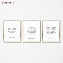 Letras de Vida Inspiradora Imprime Cartazes motivacionais Citações Modernas Pintura Na Parede Da Lona Para Sala de estar Home Decor Art