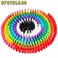 Utoysland 100 pcs de madeira blocos de dominó set for kids play construção inteligência e empilhar blocos educação toy