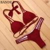 New Halter Top Sexy Bikini Set Women Swimsuit Brazilian Bikini Cut Out Strappy Swimwear Bathing Suit