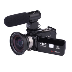 4K WiFi Ultra HD 1080P Digital Video Camera Camcorder DV with Lens+Microphone GY88