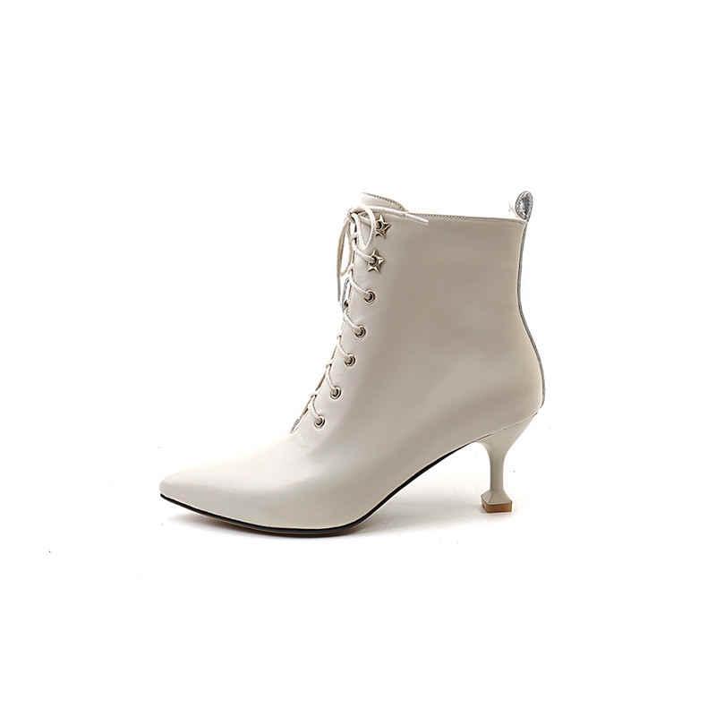 MORAZORA 2018 ใหม่ elegant ชี้ toe หนังแท้รองเท้าหนังแฟชั่น stiletto ส้นสูงส้นรองเท้าข้อเท้ารองเท้าสบายรองเท้าซิป
