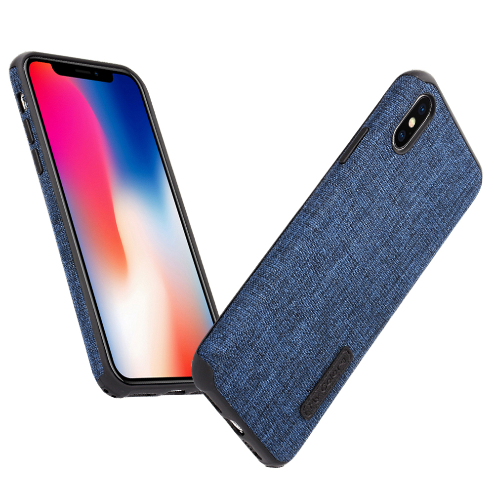 MLLSE Cloth Case For iPhone X Fashion Linen Cloth & Soft TPU Silicone Anti-knock Cover For iPhone 10 Shockproof Protective Funda (14)