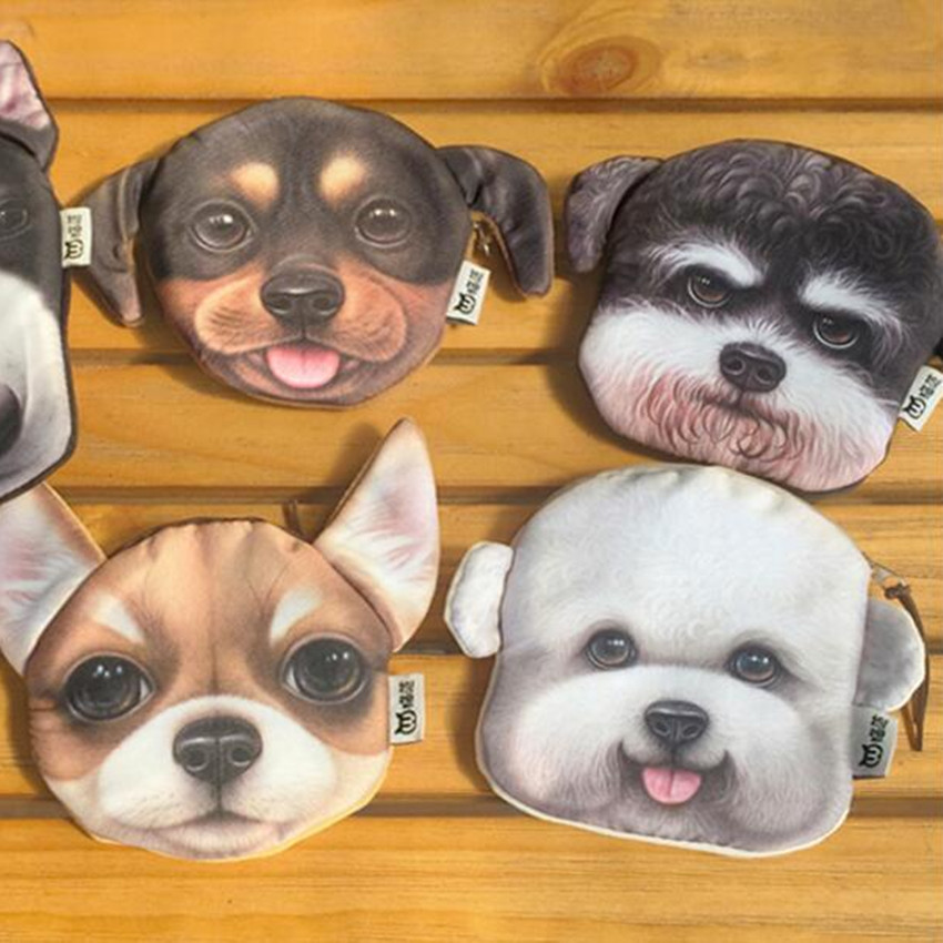 M102 Cute Cartoon Pets Akita dog Siberian Husky Personality Plush Coin Purse Wallet Girl Women Student Gift Wholesale akita 3060 14w