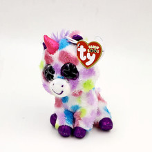 """6"""" Cute Colorful Unicorn Stuffed TY Animals Beanie Boos Big Sparkly Eyes Babies Plush Soft Toys for Children or Collection L17"""