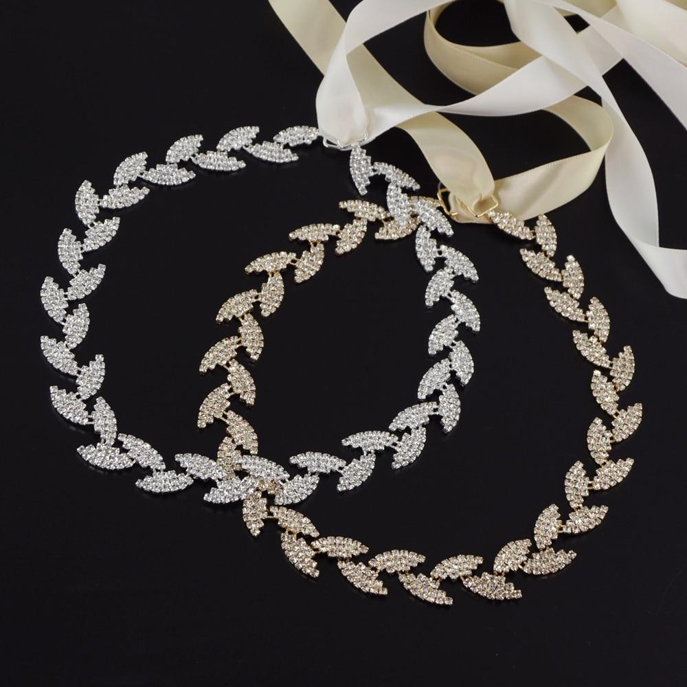 TOPQUEEN S198 Stock Diamond Rhinestone Free Shipping Beautiful Color Women Wedding Belt Bridal Sash Silver Thin Belt