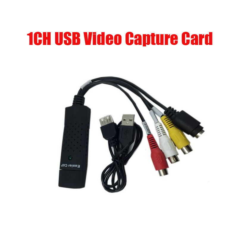 Free shipping 1ch USB Capture card EasyCAP USB2.0 Video Adapter with Audio-Video dvr card for security pc system easycap 4 channel 4 input usb 2 0 dvr video capture surveillance dongle