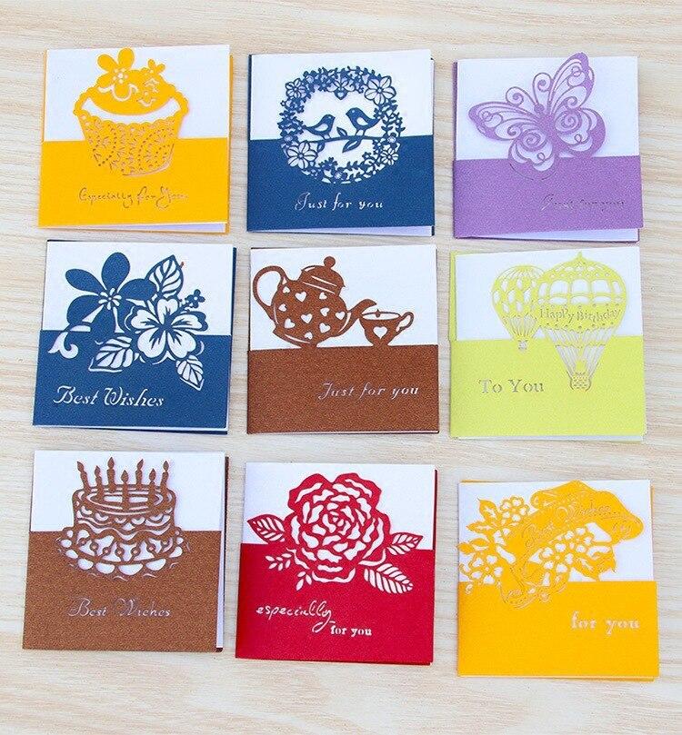 50pc/lot Cartoon Animal Cute Universal Greeting Card Lovely Creative Fresh Birthday Business Card Mini Holiday Card