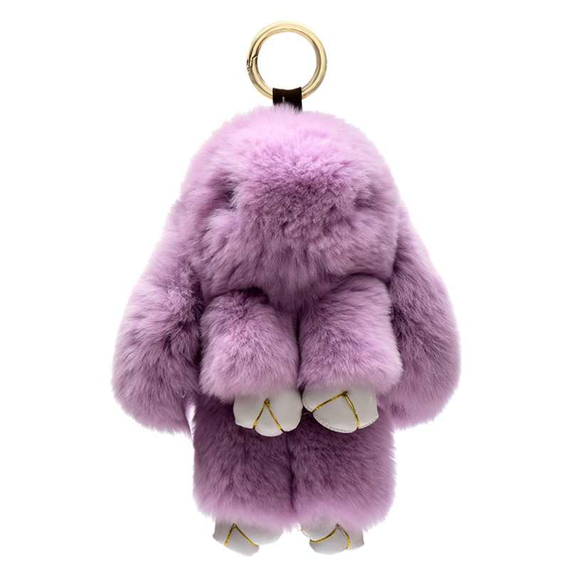 7 Colors Lovely Rabbit Furs Keychain Play Dead Rabbit Animal Keychain for Bag Car Hanging Pendant