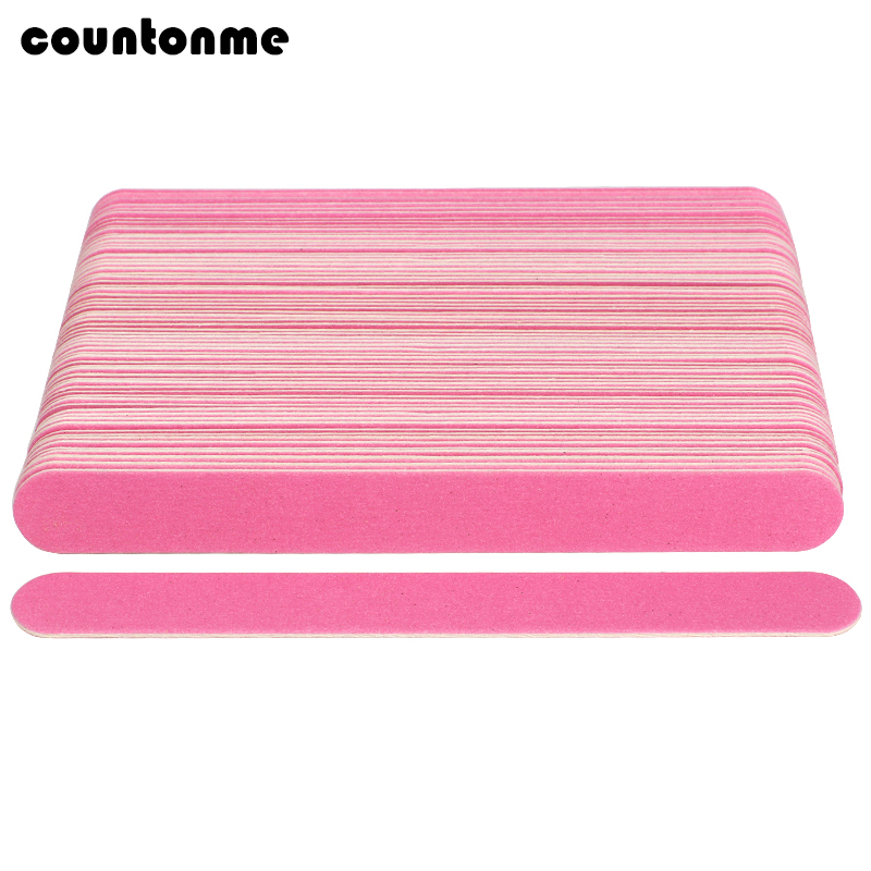 50pcs/lot Pink Nail File 180/240 Wooden Sanding Nail Tools Buffer Polishing Blocks Emery Board Salon Nail Pedicure Manicure Tool